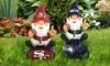 NFL Garden Gnome Sitting on a Team Logo