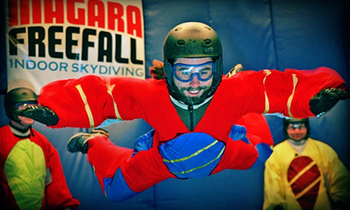 Niagara Freefall Indoor Skydiving & Interactive Center - Hamilton: $69 for Five-Minute Indoor-Skydiving Experience ($141.25 Value)