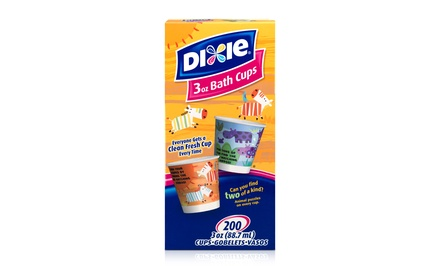 Dixie 3 Oz. Bath Cups; 12-Pack of 200ct. Boxes + 5% Back in Groupon Bucks