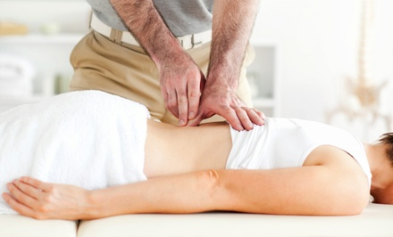 Exam, X-ray, and One or Two Adjustments and Acupuncture Treatments at Godfrey Chiropractic Clinic (Up to 90% Off)