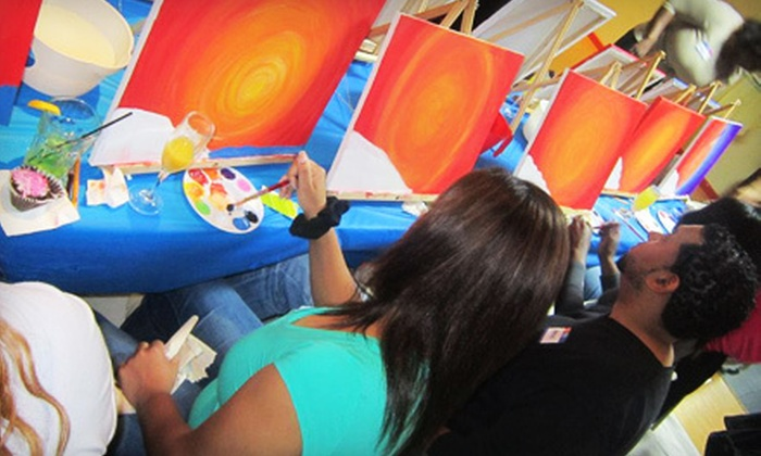 3Hues - Woodlake - Briar Meadow: Two- or Three-Hour Painting Class with Cupcakes for Two or Four at 3Hues (Up to 51% Off)