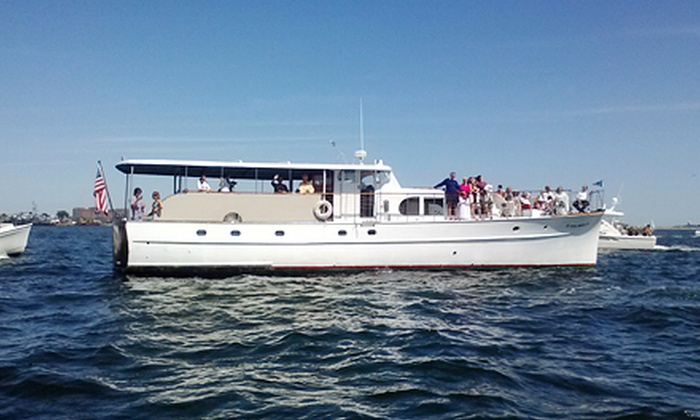 Full Moon Classic Yacht Charters - D Street - West Broadway: Three-Hour Fall Foliage Cruise with a Jazzfeast Meal from Full Moon Classic Yacht Charters (47% Off). 6 Dates Available.