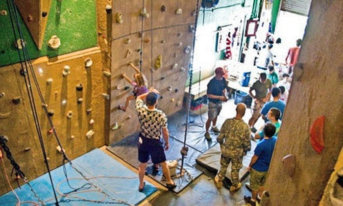 North Texas Outdoor Pursuit Center - The Historic Grain Silos: One-Day or One-Month Rock-Climbing Pass for Two at North Texas Outdoor Pursuit Center (Up to 59% Off)