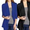 Hybrid & Company Women's Open-Front Drape Cardigan