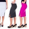 Women's Classic Side Slit Pencil Skirt