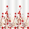 Kimberly Petite Floral Fabric Shower Curtain