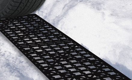 Set of 4 Car Tire Snow-Grabber Mats