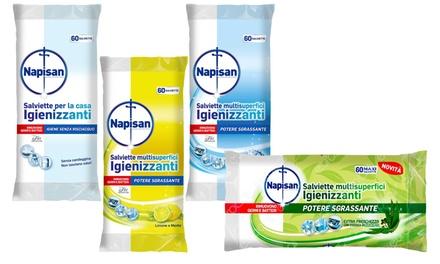 Salviette multisuperfici igienizzanti Napisan disponibile in 4 tipologie