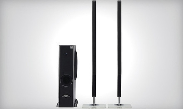 Stampede Presentation Products: $169 for a Sharp Super-Slim Home Speakers System ($299 List Price)