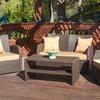 Roswell 4-Piece Outdoor Wicker Sofa Set