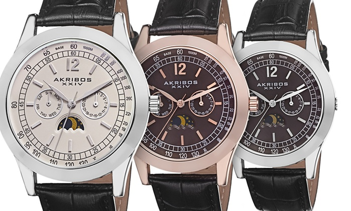 Akribos Vintage Retro Men's Watches: Akribos XXIV Men's Analog Watches (Up to 90% Off). Multiple Styles Available. Free Shipping and Returns.