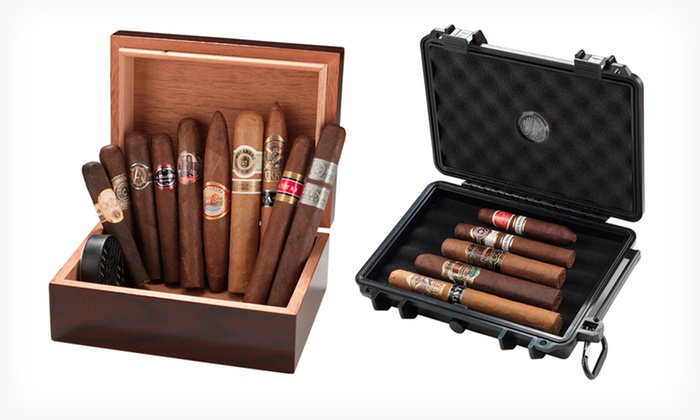 Cigar-and-Humidor Sets from Famous Smoke Shop: Cigar-and-Humidor Set from Famous Smoke Shop (Up to 44% Off). Multiple Sets Available. Free Shipping.