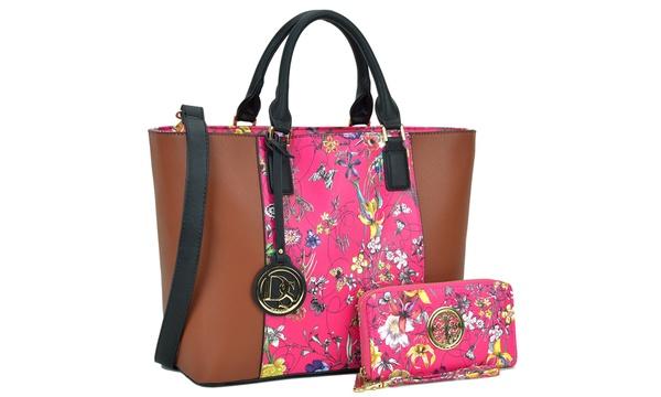 dd3eec179658 Marco Designer Satchel Tote Bag with Matching Wallet
