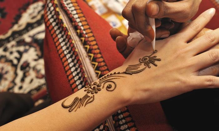 "Henna by Mackenna at Mane Event Salon & Spa - The Mane Event Salon and Spa: 6""x6"", 10""x7"", or 15""x7"" Henna Tattoo at Henna by Mackenna at Mane Event Salon & Spa (Up to 52% Off)"