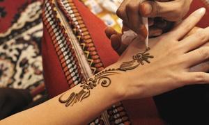 "Henna by Mackenna at Mane Event Salon & Spa: 6""x6"", 10""x7"", or 15""x7"" Henna Tattoo at Henna by Mackenna at Mane Event Salon & Spa (Up to 52% Off)"