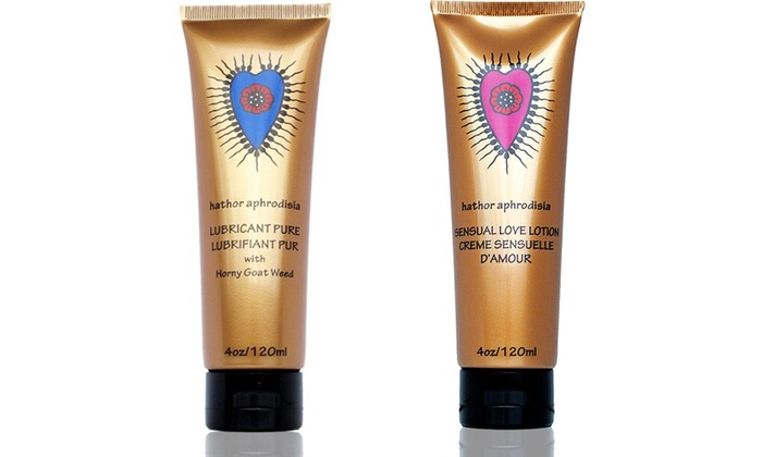 Hathor Aphrodisia Lubricant Pure or All-Natural Love Lotion: Hathor Aphrodisia 4 Oz. Lubricant Pure or All-Natural Love Lotion
