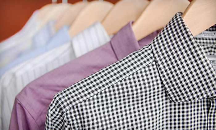 Liberty Cleaners - Multiple Locations: Dry Cleaning at Liberty Cleaners (Half Off). Two Options Available.