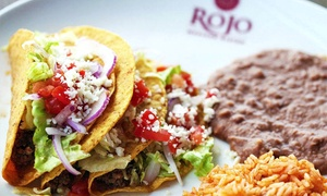 Rojo Mexican Bistro: $75 for Two $50 Gift Cards for Mexican Food at Rojo Mexican Bistro ($100 Value)