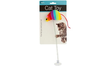 Mouse Spring Cat Toy with Suction Cup 84a49f4e-1d7d-11e8-8378-00259060b5da