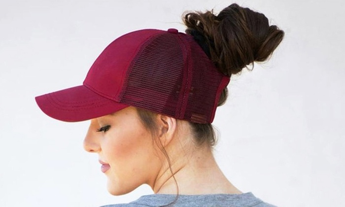 51b56e97e Up To 47% Off on Ponytail Baseball Cap | Groupon Goods