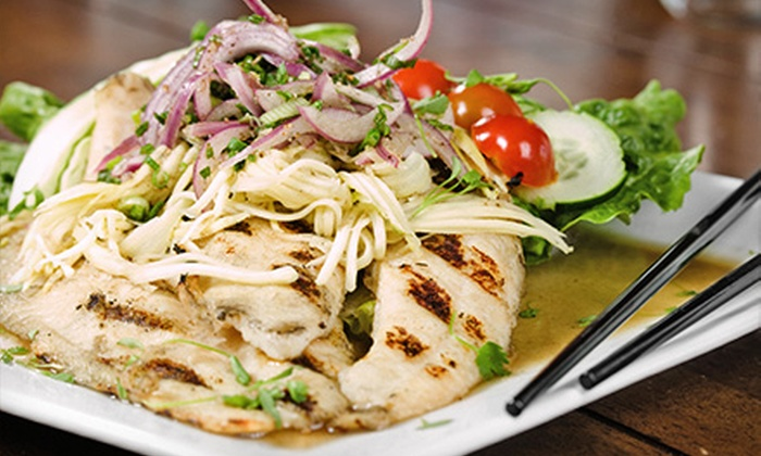 Rama - San Diego: Thai Food and Drinks for Dinner at Rama (Up to50% Off). Two Options Available.