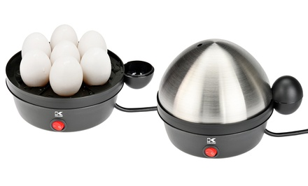 Kalorik Stainless Steel 7-Egg Cooker with 4-Egg Poaching Tray