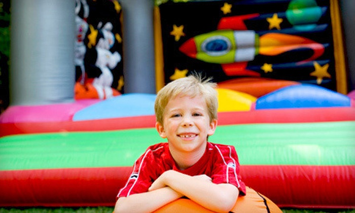 Laser Bounce USA - Crofton: $20 for an Open-Play Package for Four Kids with Pizza at Laser Bounce USA ($44.50 Value)