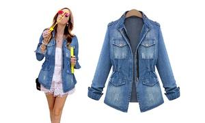 (Mode)  Veste en jean pour femme -44% réduction