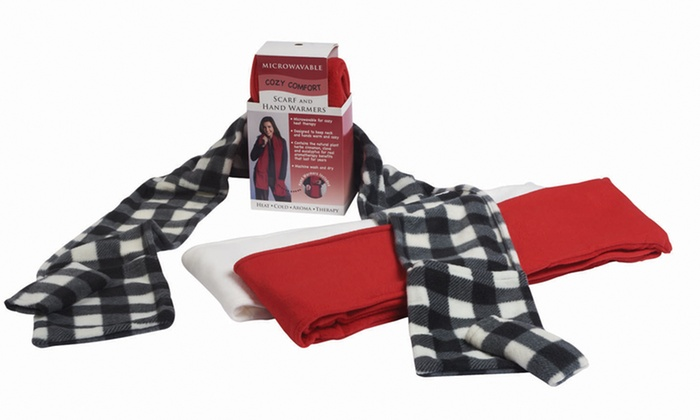 Aromatherapy Warming Scarves: AromatherapyMicrowavable Scarf and Hand Warmer with Soothing Scents. Multiple Colors Available. Free Returns.