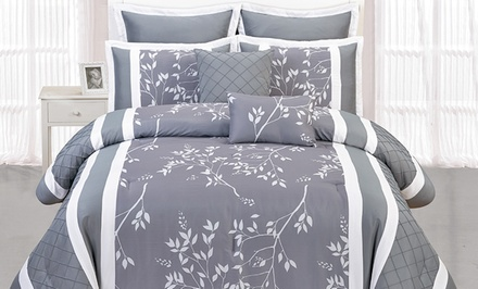 Riverbank 8-Piece Pin-Tucked Comforter Set