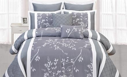 Riverbank 8-Piece Pin-Tucked Comforter Set
