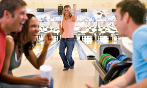 Sim's Bowling Lanes: Two Games of Bowling with Shoes and Pizza for Two, Four, or Six at Sim's Bowling Lanes (Up to 54% Off)