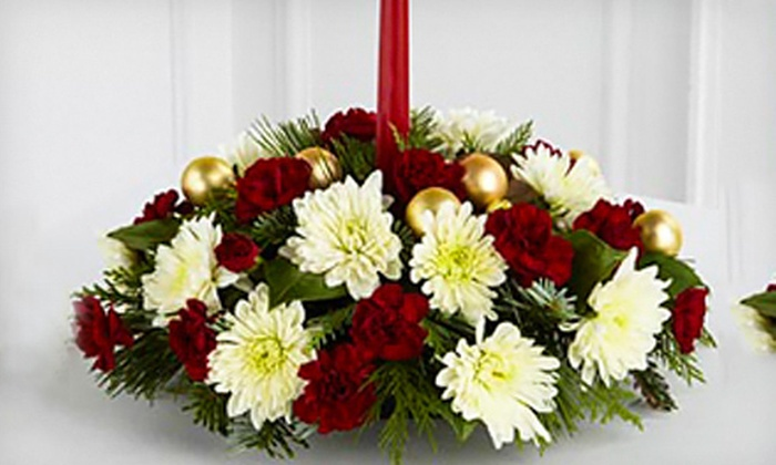 Petals To Go - Multiple Locations: FTD Light & Love Holiday Centerpiece or $20 for $40 Worth of Fresh Flowers from Petals to Go