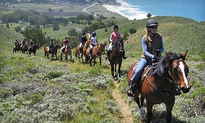 Moss Beach Ranch - Half Moon Bay: Two-Hour Horseback-Riding Session for Two or Four with Lesson and Trail Ride at Moss Beach Ranch (Up to 53% Off)
