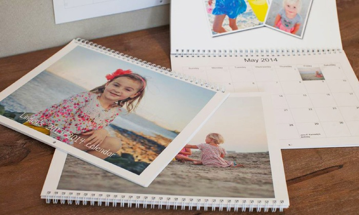"""Picaboo: One or Two 11""""x9"""" Custom Photo Calendars from Picaboo (Up to 60% Off)"""