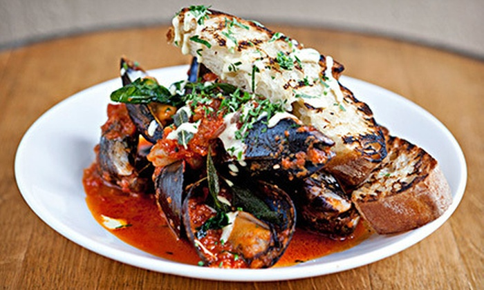 Crush Italian Cuisine and Lounge - Solana Beach: Prix Fixe Italian Dinner with Wine for Two, Four, or Six at Crush Italian Cuisine and Lounge (Up to 56% Off)