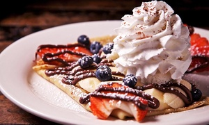 The Crepe: Gourmet Crepes at The Crepe (Up to 45% Off). Three Options Available.