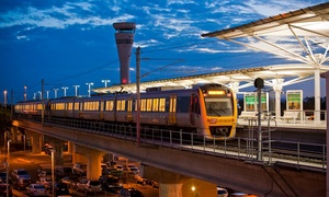 Brisbane's Airtrain: One-Way ($13) or Return Brisbane Airport to Brisbane City Fare ($25) with Brisbane's Airtrain (From $17.50 Value)