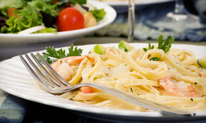 Via Bella - Countryside: Dinner for Four with Wine, Catering Package for Up to 20, or $21.50 for $40 Worth of Italian Food at Via Bella