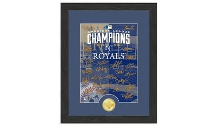 MLB Kansas City Royals AL Champs Bronze Coin Photo Mint