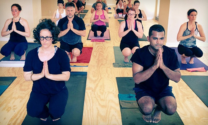 Detroit Yoga - Multiple Locations: 8, 16, or 24 Classes at Detroit Yoga (Up to 76% Off). Nine Options Available.