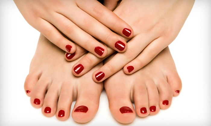 Absolute Bliss - Downtown Sioux Falls: One or Two Shellac Mani-Pedis at Absolute Bliss (Up to 62% Off)