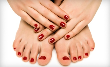 One or Two Shellac Mani-Pedis at Absolute Bliss (Up to 62% Off)