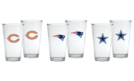 NFL 16 Oz. Shaker Pint Glasses (2-Pack)