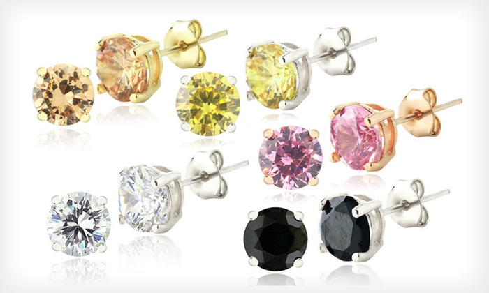 Set of Five Simulated Diamond Earrings: $19 for a Set of Five Simulated Diamond Stud Earrings ($149.99 List Price). Free Shipping and Free Returns.