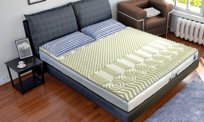 surmatelas m moire de forme sampur groupon shopping. Black Bedroom Furniture Sets. Home Design Ideas