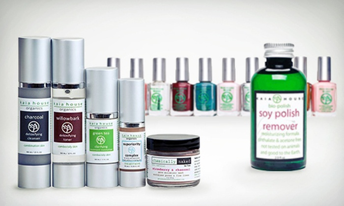 Kaia House Organics - Lower East Side: Skincare Starter Kit or $12 for $25 Worth of Natural Skin, Hair, and Makeup Products at Kaia House Organics