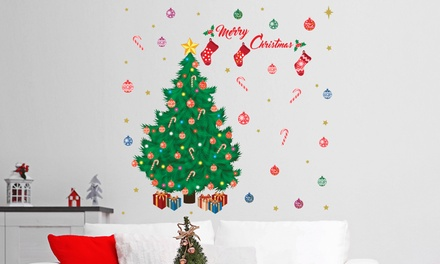 Traditional Christmas Tree Wall Sticker from £7.98