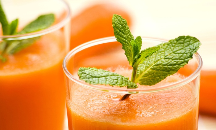 Mantra Yoga and Juice - Carlsbad: $12 for Four Groupons, Each Good for $6 Worth of Fresh Juice at Mantra Yoga and Juice ($24 Value)