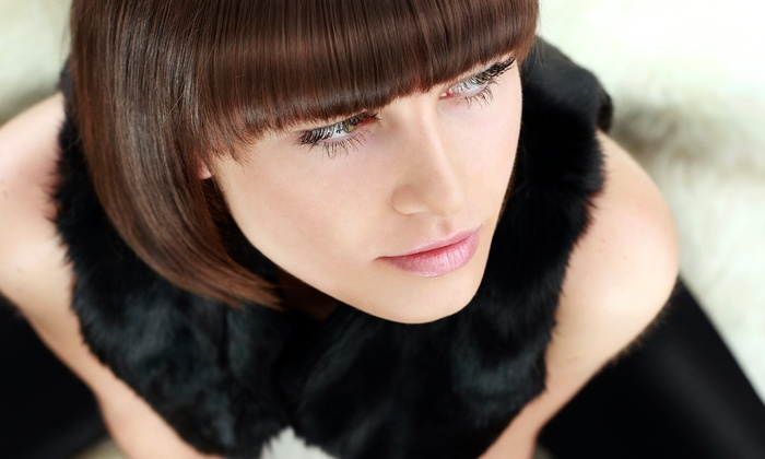 Hair By Becky - Reno: Haircut with Optional Eyebrow Wax or Highlights at Hair By Becky (Up to 53% Off)